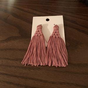 Pink tassle earrings